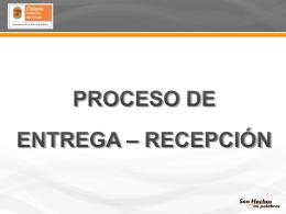 Entrega y Recepción - Secretaría de la Función Pública