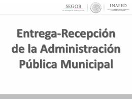 Entrega-Recepción de la Admon. Pública Municipal