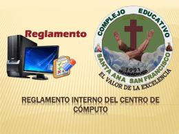REGLAMENTO INTERNO SALA DE COMPUTO