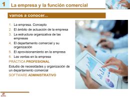 La empresa y la función comercial