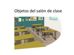 Objetos del salón de clase