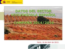 datos del sector vitivinícola español campaña 2014/2015
