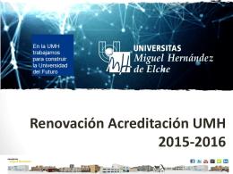 Presentación Acreditación UMH febrero 2014