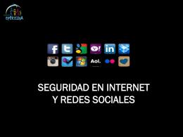 Taller seguridad en Internet y redes sociales (II