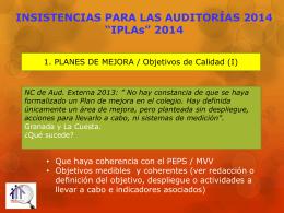 INSISTENCIAS_PARA_LAS_AUDITORIAS_2014