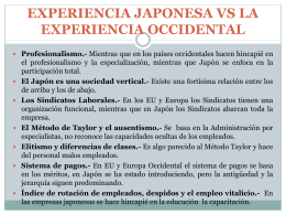 experiencia japonesa vs la experiencia occidental