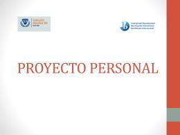 PROYECTOS DEL PAI - ProjectePersonal