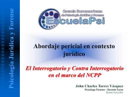 Interrogatorio - Escuela Iberoamericana de Psicología Jurídica y