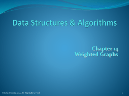 Chap14 Weighted Graphs