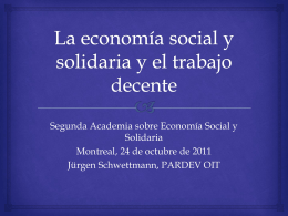 Conclusiones sobre el trabajo decente y la economía informal 90 º