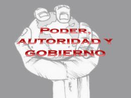 Poder ,autoridad y gobierno