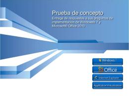 Compatibilidad de la aplicación del escritorio