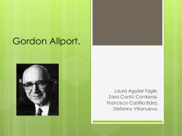 Gordon Allport.