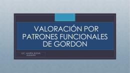 patrones funcionales de gordon - Licenciada María Elena Alemán B.