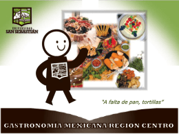 Gastronomía Mexicana Región Centro