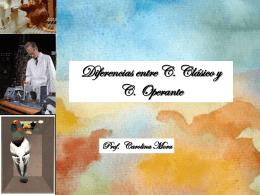 diferencias entre clásico y operante