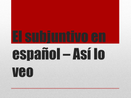 El subjuntivo PPT