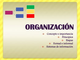 ORGANIZACIÓN - WordPress.com