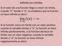 Infinito en Límites