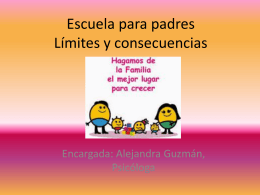 Escuela para padres Límites y consecuencias