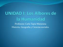 UNIDAD I: Los Albores de la Humanidad