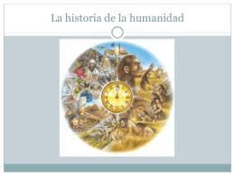 La historia de la humanidad