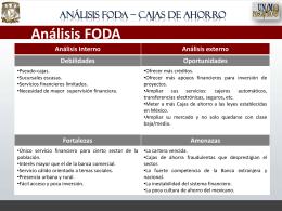FODA-Cajas de ahorro - Seminario de Estrategia Empresarial