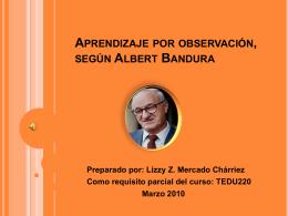 Aprendizaje por observación, según Albert Bandura