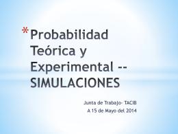 Probabilidad Teórica y Experimental