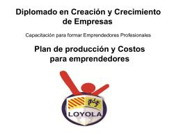 Plan de Producción y Costos Para Emprendedores