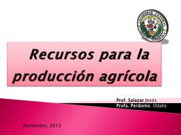 Tema 2: Recursos para la producción agrícola
