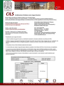 Certificado de Italiano como Lengua Extranjera 2013