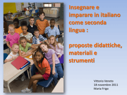Insegnare e imparare in italiano come seconda lingua