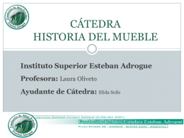 CATEDRA HISTORIA DEL MUEBLE