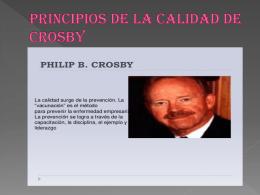 PRINCIPIOS DE LA CALIDAD DE CROSBY