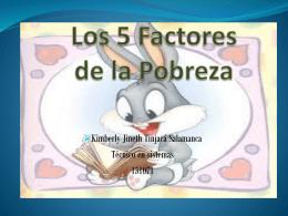 Los 5 Factores de la Pobreza