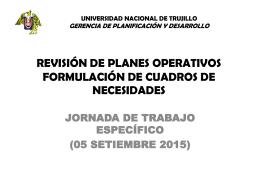 Revisión - Universidad Nacional de Trujillo
