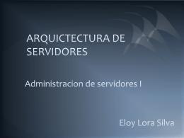 ARQUICTECTURA DE COMPUTADORAS
