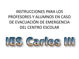 instrucciones para los alumnos en caso de