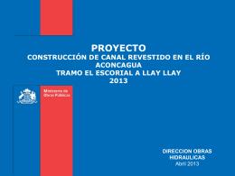 Canal Revestido Aconcagua
