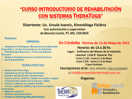 Curso Introductorio de Rehabilitación con Sistemas TheraTogs
