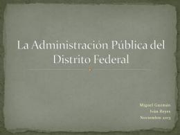 La Administración Pública del Distrito Federal
