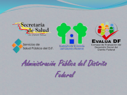 Administración Pública en el DF