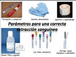 Parámetros para una correcta extracción sanguínea
