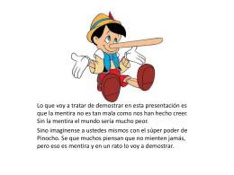 La mentira tiene mala publicidad