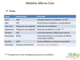 Medallas Alfonso Caso