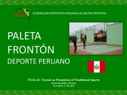 Paleta Fronton Deporte Peruano - Federación Deportiva Peruana