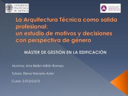 La Arquitectura Técnica como salida profesional: un
