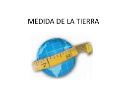 MEDIDA DEL MERIDIANO