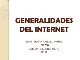 Generalidades del internet